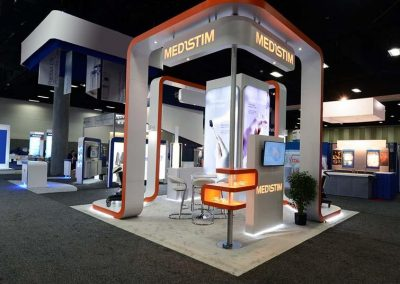 MediStem - 20x20 custom trade show display
