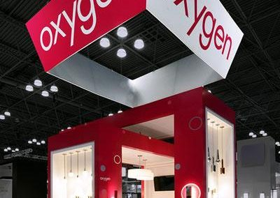 Oxygen - 20x20 custom trade show display