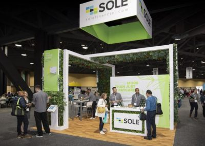 Sole - 20x20 trade show exhibit rental