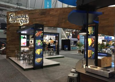 Treasures from the Sea - custom trade show display