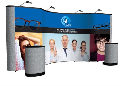 Zurn 20' Pop-Up Portable Trade Show Display