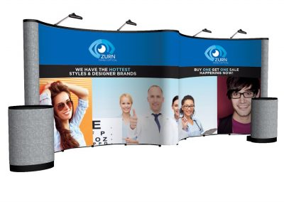 Zurn 20' Gullwing Pop-Up Portable Trade Show Display