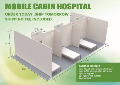 Mobile Cabin Hospital - with Beds